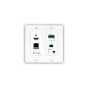 ATLONA HDBaseT RX HDMI 2-Gang Wall Plate w/ RS-232 & IR
